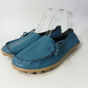 Socofy Leather Moccasins Size 42 US 11